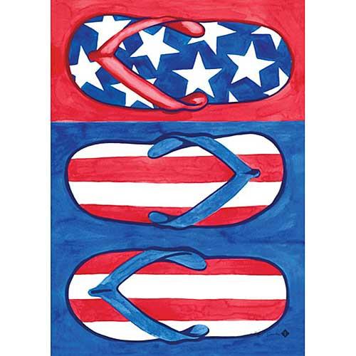 USA Flip Flops Patriotic HOUSE Flag - 107097