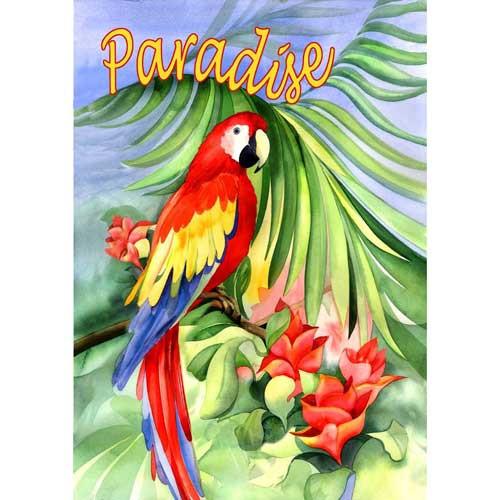 "Parrot Garden Flag ""Paradise"" - 112093"