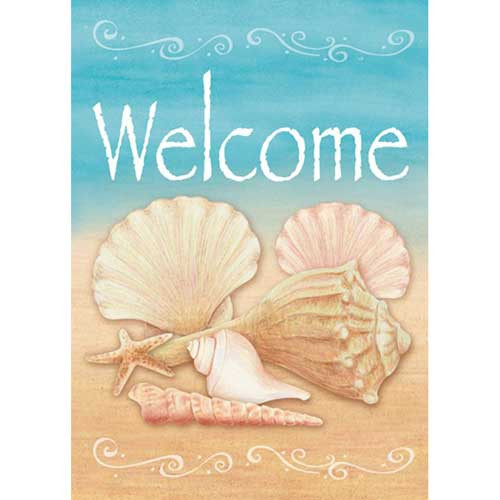 Coastal Shells Welcome Garden Flag 117073