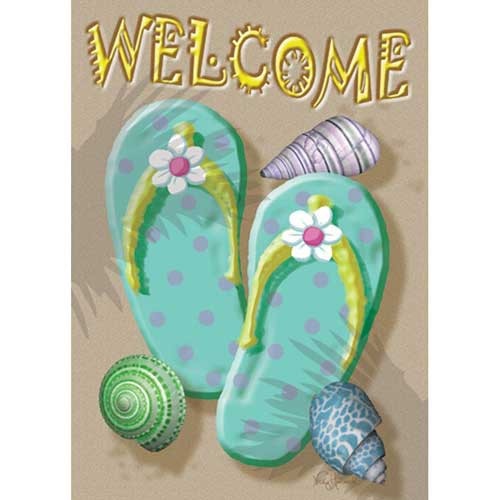 "Flip Flops ""Welcome"" Garden Flag - 117074"