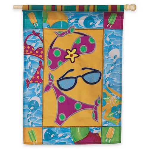 Summer Fun at the Pool Garden Flag 161146