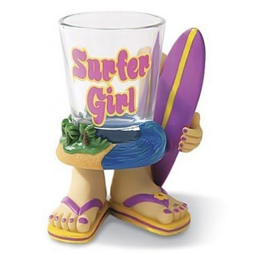 Surfer Girl Novelty Shot Glass 01699000