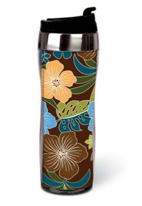 Hibiscus Sleek Travel Tumbler Mug - 02155000