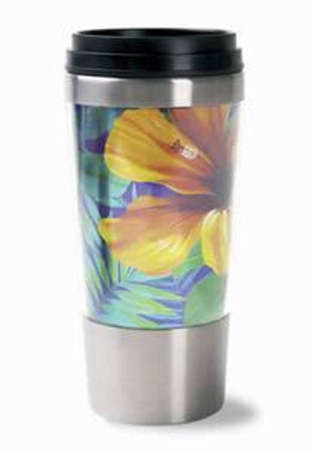 Hibiscus Flower Stainless Steel Thermal Tumbler Travel Mug -02419000