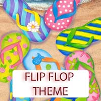 Flip Flop Theme Gifts & Tropical Beach Decorations