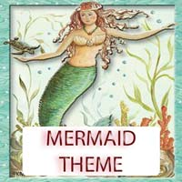 Mermaid Theme Gifts & Tropical Beach Decorations