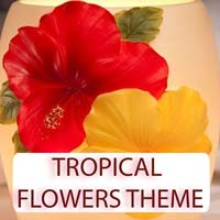 Tropical Flowers Theme Gifts & Tropical Beach Decorations