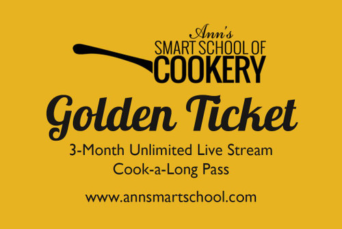Golden Ticket - Unlimited Live Stream Cook-a-longs for 3 Months