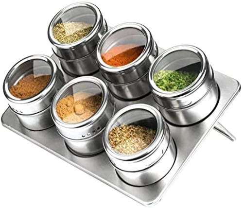 6 Piece Magnetic Spice Rack