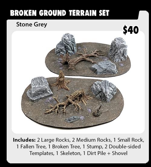 Monster Terrain - Broken Ground Set