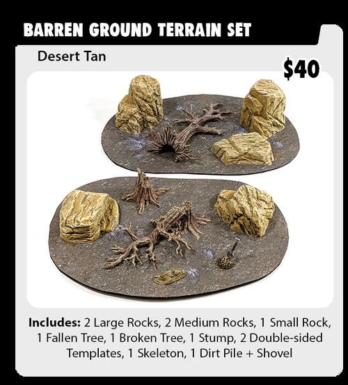 Monster Terrain Barren Ground Set