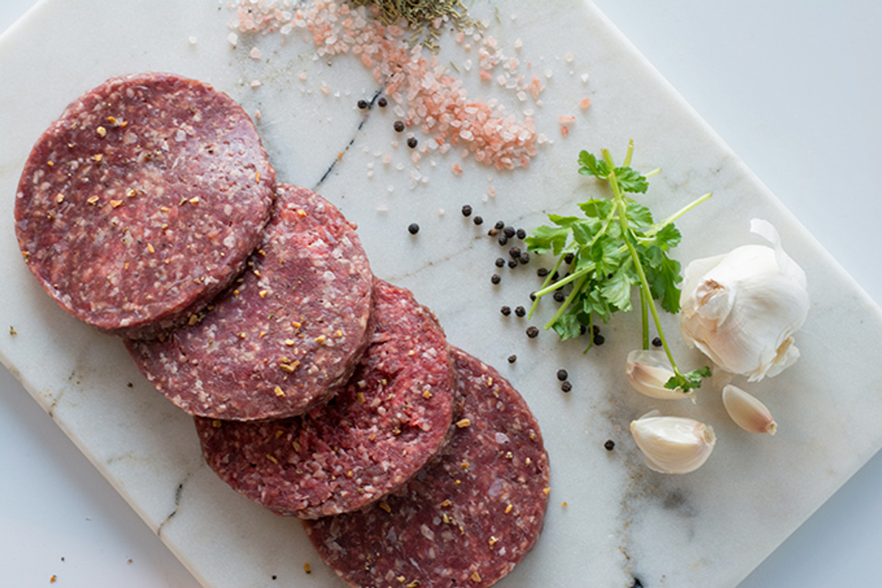 Organic Burger Meat with Garlic