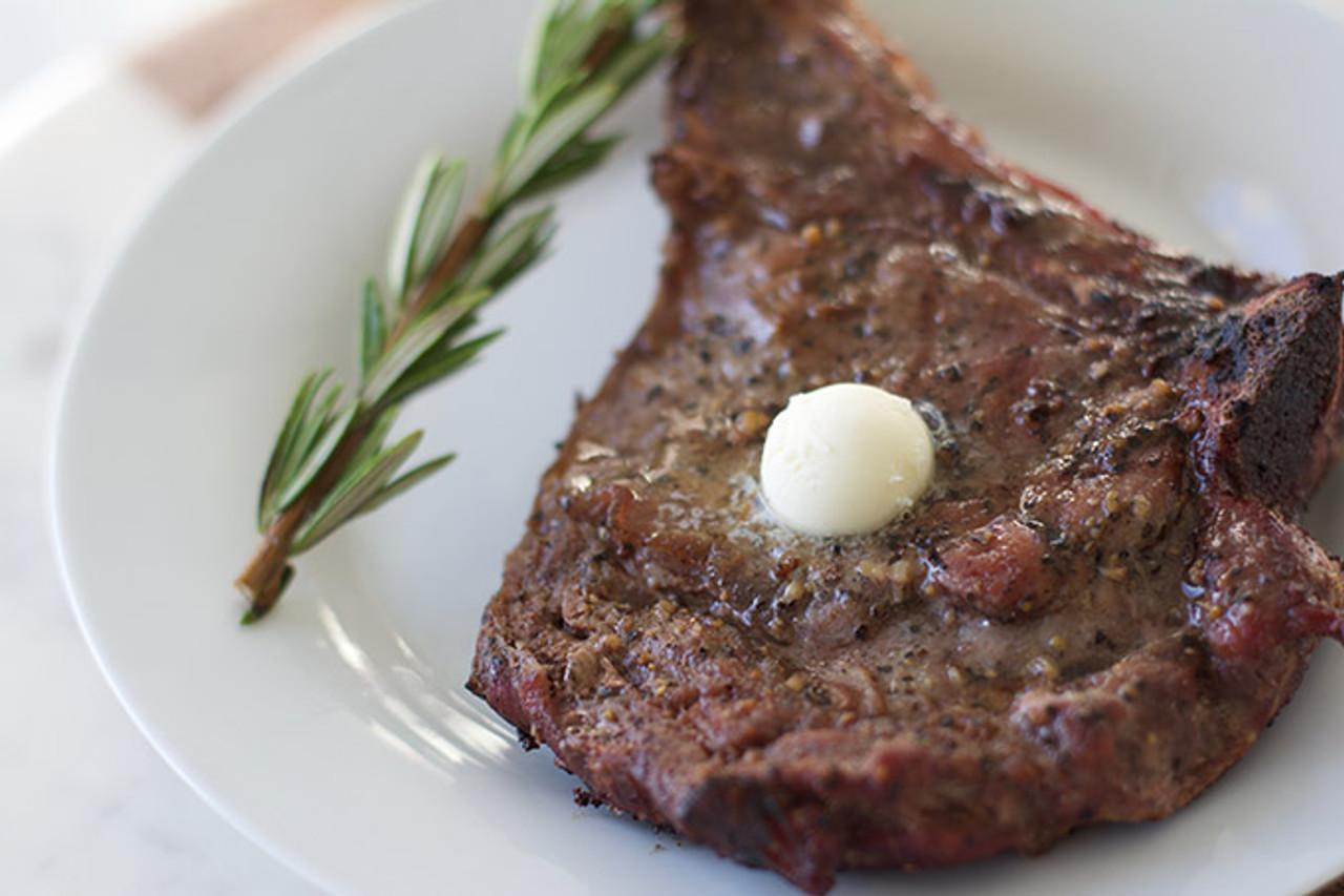 Cooked Organic Ribeye Steak