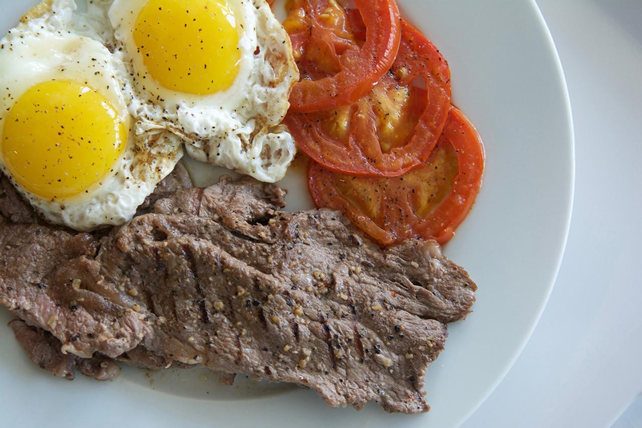 Organic Minute Steak and Eggs