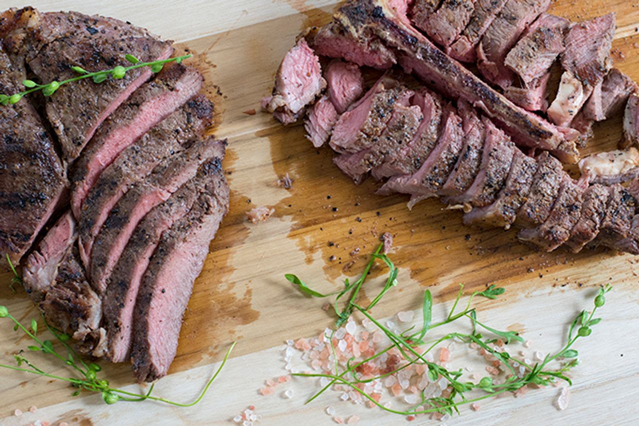 Cooked Organic T-Bone Steak