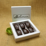 Bohemein 6 chocolate gift Box with 6 Award Winning Sea Salt Caramels.