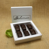 Bohemein 6 chocolate gift Box filled with 6 2014 Cuisine Artisan AWARD &  2014 NZ Food AWARD  Winning Cocoa Nib Caramels Only. (aka Black Devil Caramel)