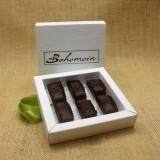 Bohemein 6 chocolate gift Box filled with 6 2014 Cuisine Artisan AWARD &  2014 NZ Food AWARD  Winning Cocoa Nib Caramels Only. (aka Black Devil Caramel)