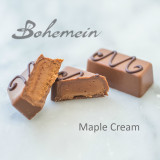 Bohemein Maple Cream.Ideal with coffee, this sweet chocolate is enlivened with the nutty sweetness of maple syrup, nestled in a milk chocolate shell