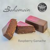 Bohemein Award Winning Raspberry Ganache. A classic match of fresh raspberry and dark chocolate. Dairy FREE