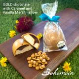 Bohemein Vanilla Marshmallow , soft Chocolate Caramel  Egg in GOLD chocolate