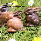 Bohemein Chocolate Caramel Bunny .Nice and safe flavour for kids.Filled with a soft textured caramel. Encased in Dark or Milk chocolate shell.