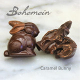 Bohemein Chocolate Caramel Bunny .Nice and safe flavour for kids.Filled with a soft textured caramel. Encased in  Dark chocolate shell.