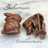 Bohemein Cinnamon Caramel Bunny .Our most popular Easter treat in Milk Chocolate