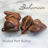 Bohemein Mulled Port Ganache Bunny in Milk Chocolate