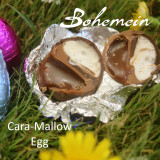 Bohemein Cara-Mallow filled mini Egg. Up Close and personal