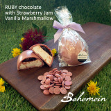 Bohemein Vanilla Marshmallow ,homemade Strawberry Jam Egg in RUBY chocolate
