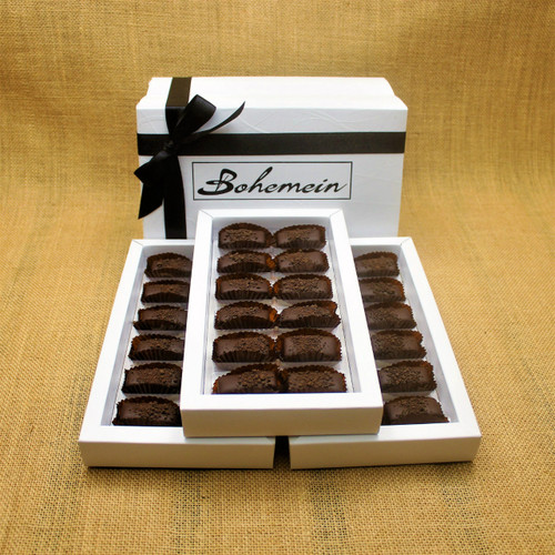 Bohemein 36 chocolate gift Box filled with 36 2014 Cuisine Artisan AWARD &  2014 NZ Food AWARD  Winning Cocoa Nib Caramels Only. (aka Black Devil Caramel)