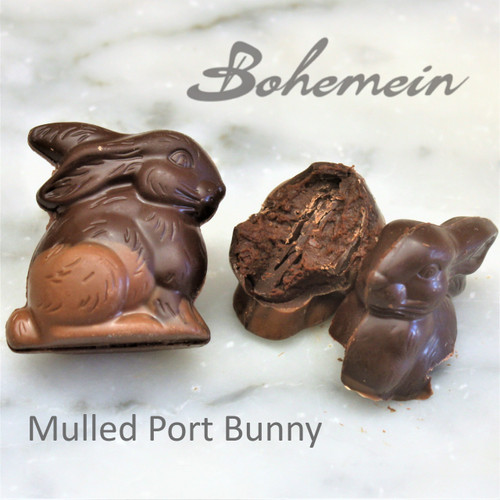 Bohemein Mulled Port Ganache Bunny in Drak 53% Chocolate