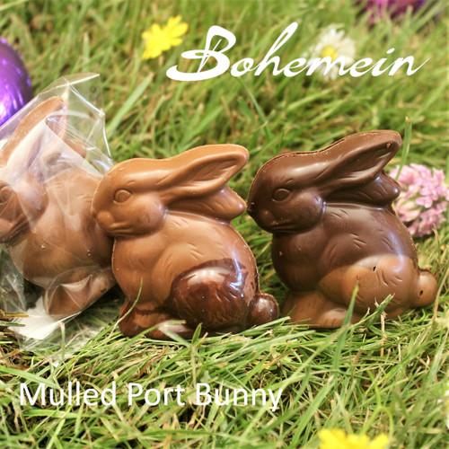 Bohemein Mulled Port Ganache Bunny. Please choose Milk or Dark chocolate Version