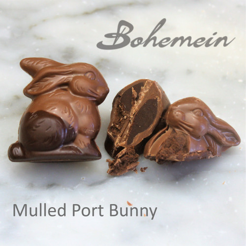 Bohemein Mulled Port Ganache Bunny in Milk Chocolate