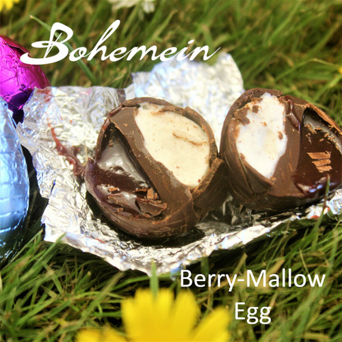Bohemein Berry-Mallow filled mini Egg.  Up close and personal.