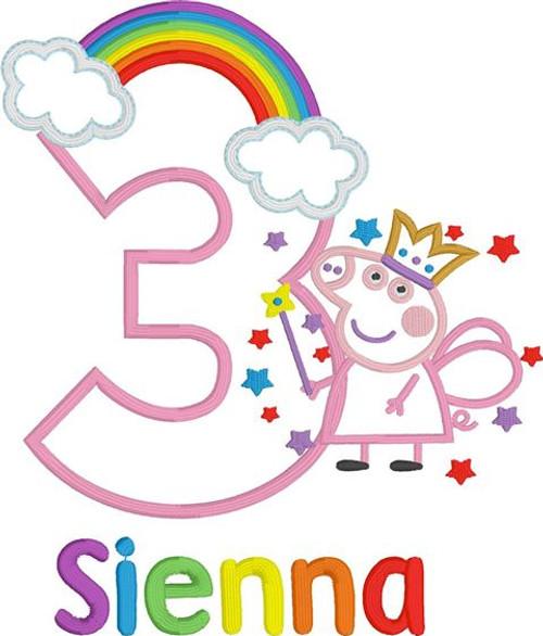 Peppa Fairy with Rainbow Inspired Birthday Tutu Set