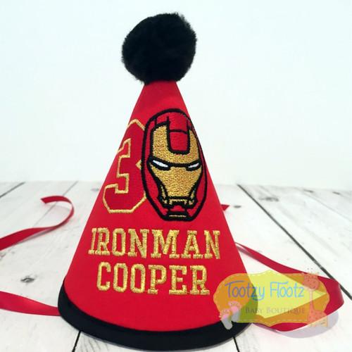 Iron Man Superhero Themed Party Hat