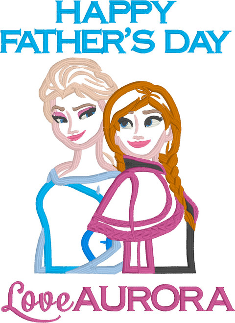 Father's Day - Frozen Sisters Themed