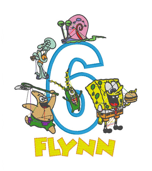 Spongebob Inspired (Multiple Characters) Birthday