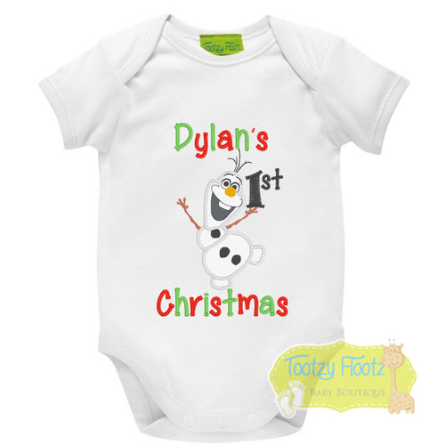 1st Christmas - Olaf Snowman Inspired