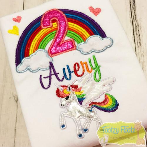 Rainbow Unicorn Themed Birthday