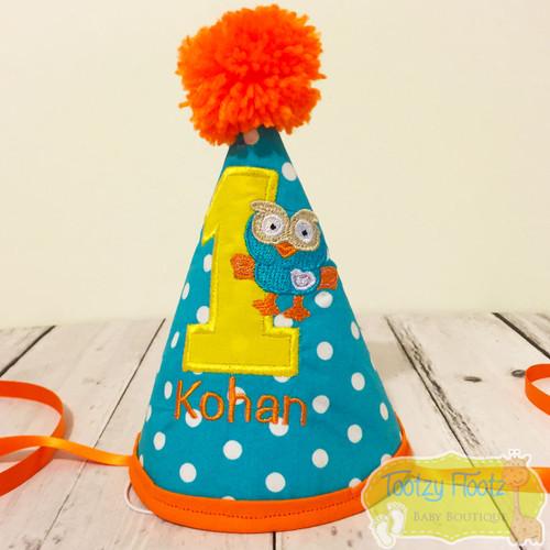 Hoot Inspired Hat (Orange Trim)