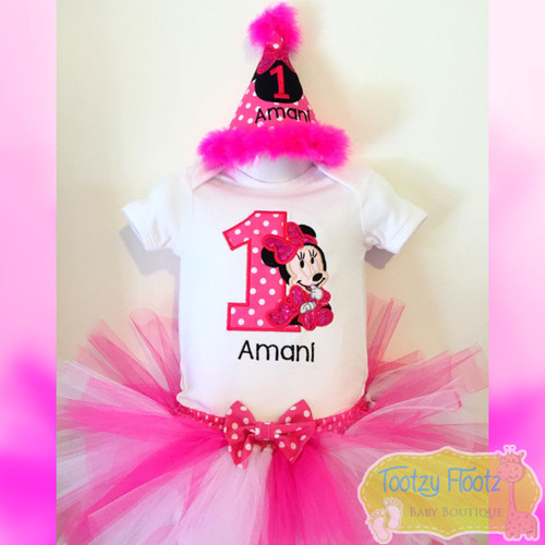 Minnie Mouse (Hot Pink) Inspired Birthday Set