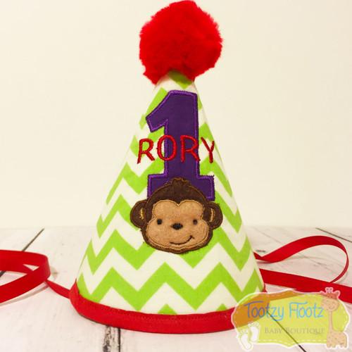 Monkey Themed Birthday Party Hat