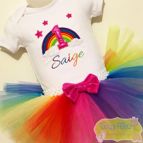 Rainbow Themed Birthday Set