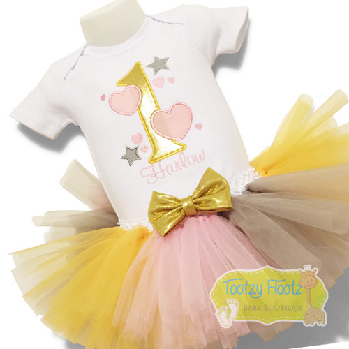 Number with hearts and stars Themed Birthday Set