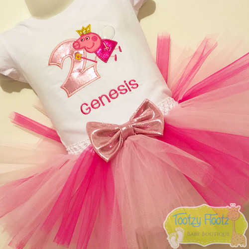 Peppa Pig Princess Inspired Birthday Set