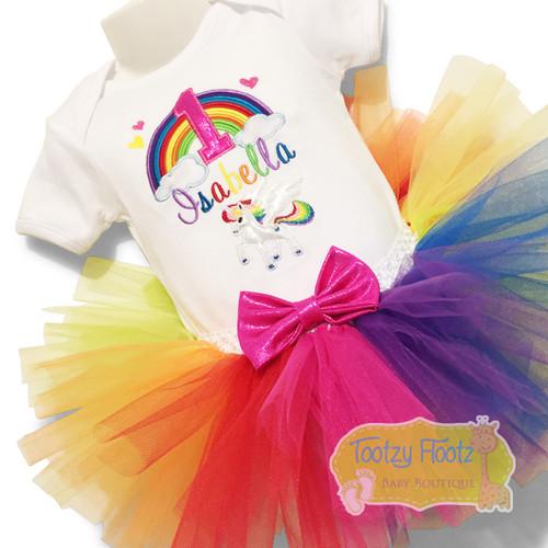 Rainbow Unicorn Birthday Set