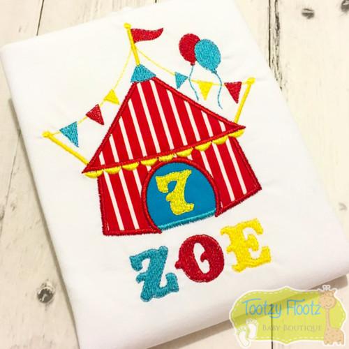 Circus Tent Themed Birthday